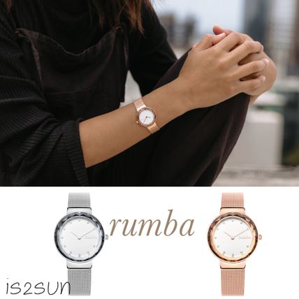 Round Silver Office Style Analog Watches