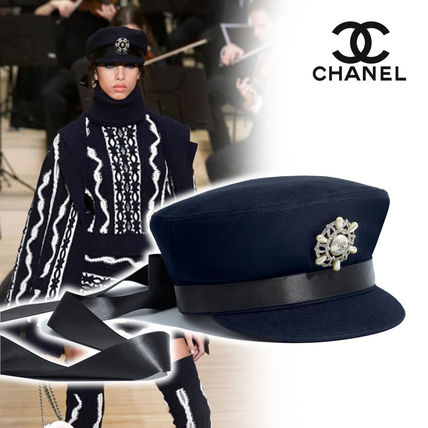 84ffdd3e5c9 CHANEL 2018-19AW Blended Fabrics Street Style Home Party Ideas Caps ...