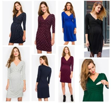 Blended Fabrics Maternity Dresses