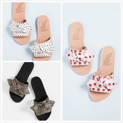 Dots Leopard Patterns Open Toe Casual Style Slippers Sandals