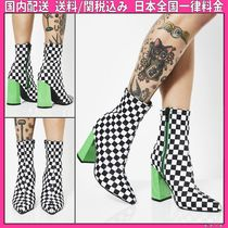 DOLLS KILL Other Check Patterns Casual Style Block Heels