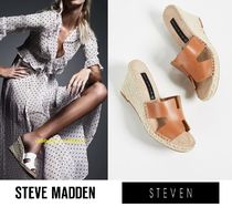 Steve Madden Casual Style Street Style Plain Leather