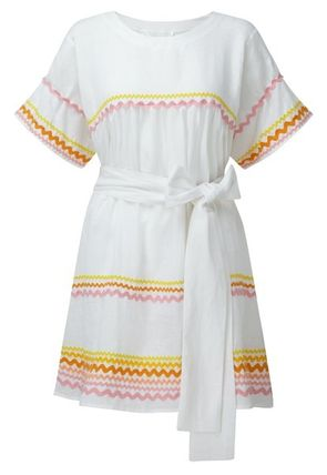 Short Linen Short Sleeves Dresses