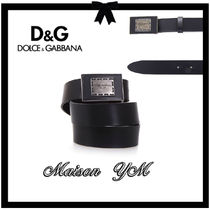 Dolce & Gabbana Blended Fabrics Plain Leather Belts