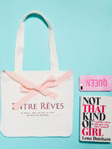 Entre Reves Canvas Street Style 2WAY 3WAY Plain Shoppers