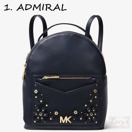Michael Kors Backpacks Flower Patterns Casual Style Studded 3WAY Plain Leather 2