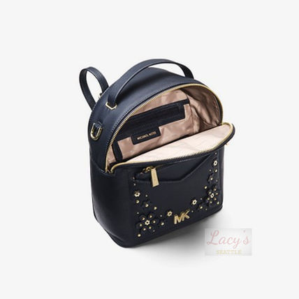 Michael Kors Backpacks Flower Patterns Casual Style Studded 3WAY Plain Leather 3