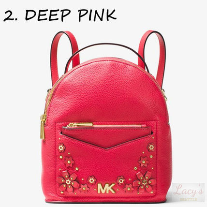 Michael Kors Backpacks Flower Patterns Casual Style Studded 3WAY Plain Leather 6
