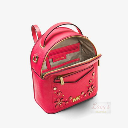 Michael Kors Backpacks Flower Patterns Casual Style Studded 3WAY Plain Leather 7
