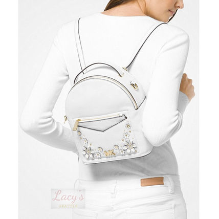 Michael Kors Backpacks Flower Patterns Casual Style Studded 3WAY Plain Leather 12