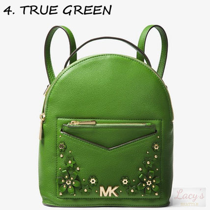 Michael Kors Backpacks Flower Patterns Casual Style Studded 3WAY Plain Leather 14