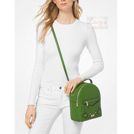Michael Kors Backpacks Flower Patterns Casual Style Studded 3WAY Plain Leather 16