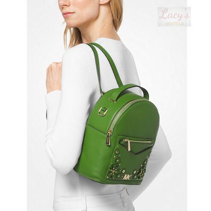 Michael Kors Backpacks Flower Patterns Casual Style Studded 3WAY Plain Leather 17