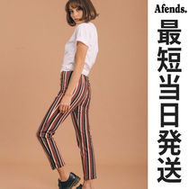 AFENDS Stripes Long Cropped & Capris Pants