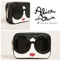 Alice+Olivia Faux Fur Pouches & Cosmetic Bags