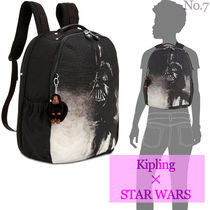 Kipling Unisex Nylon Street Style Collaboration A4 Plain Backpacks