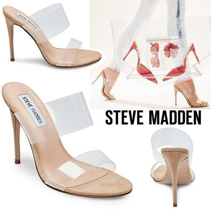 132a8d27f71 Steve Madden 2019 SS Open Toe Casual Style Pin Heels Heeled Sandals