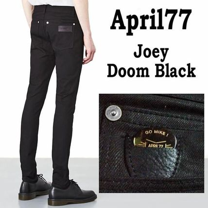 April77 Unisex Denim Street Style Plain Skinny Fit Jeans   Denim  (APRIL77JOEYDOOMBLACK) by manekineko666 - BUYMA 8559c0c3985