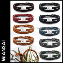 MIANSAI Street Style Plain Leather Bracelets