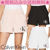Calvin Klein Short Casual Style Plain Cotton Denim & Cotton Shorts