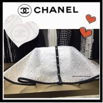 CHANEL ICON Monogram Unisex PVC Clothing Elegant Style Bags