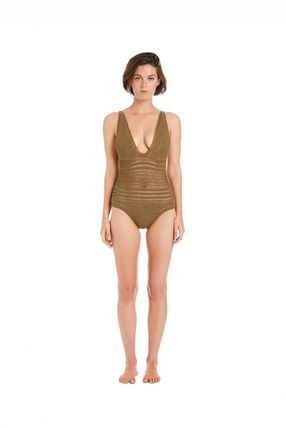 Zigzag Tassel Plain Fringes Khaki Beach Cover-Ups