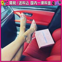 DOLLS KILL Casual Style Plain Pin Heels PVC Clothing