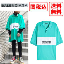BALENCIAGA Street Style Cotton Short Sleeves Polos