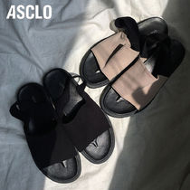 ASCLO Street Style Plain PVC Clothing Sandals