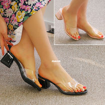 Open Toe Casual Style Chunky Heels Sandals