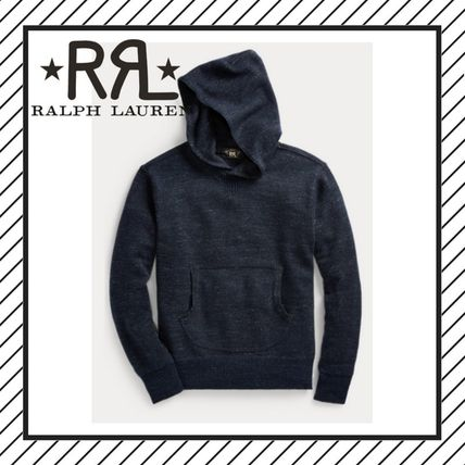 Pullovers Wool Street Style Long Sleeves Plain Hoodies
