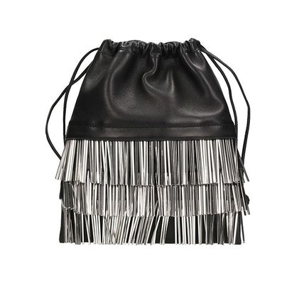 Leather Purses Fringes Elegant Style Shoulder Bags
