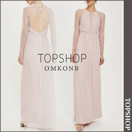 Topshop 2018 19aw Maxi Long Sleeves Long Dresses By Omkonb Buyma