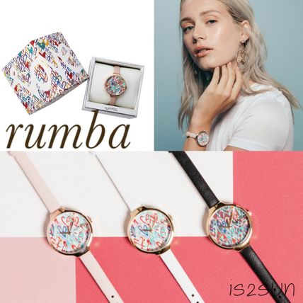 Casual Style Collaboration Round Jewelry Watches
