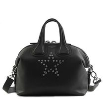 GIVENCHY NIGHTINGALE Star Unisex 2WAY Plain Leather Elegant Style Handbags