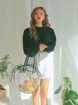 Casual Style Nylon Street Style A4 Crystal Clear Bags