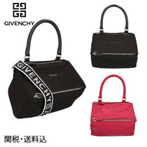 GIVENCHY PANDORA Nylon 2WAY Plain Shoulder Bags