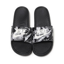Nike BENASSI Flower Patterns Tropical Patterns Casual Style Shower Shoes