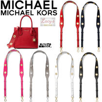 Michael Kors Casual Style Studded Street Style Plain Leather Bags