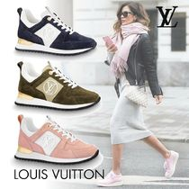 Louis Vuitton Plain Toe Rubber Sole Casual Style Leather Low-Top Sneakers