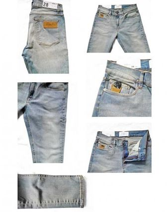... April77 Skinny Fit Denim Street Style Plain Skinny Fit Jeans   Denim ... 140176339ca