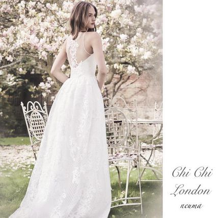 Chi London Wedding Dresses Maxi Sleeveless Plain Long