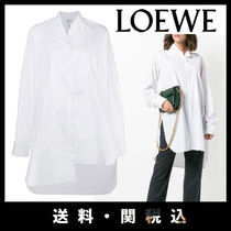 LOEWE Casual Style Long Sleeves Plain Cotton Shirts & Blouses