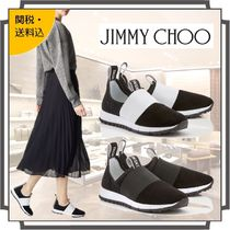 Jimmy Choo Round Toe Rubber Sole Casual Style Blended Fabrics