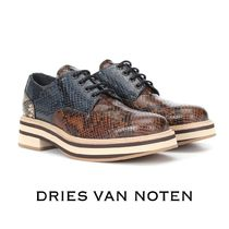 a66b593f51 Dries Van Noten Platform Round Toe Casual Style Leather Python Shoes