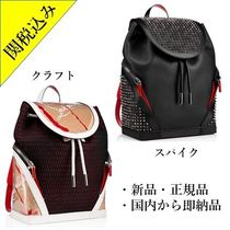 Christian Louboutin Studded Street Style A4 Leather Backpacks