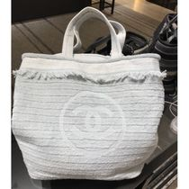 CHANEL Casual Style Plain Totes