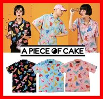 A PIECE OF CAKE Casual Style Unisex Street Style Short Sleeves