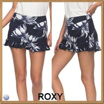 ROXY Printed Pants Short Tropical Patterns Casual Style Shorts