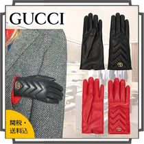 GUCCI GG Marmont Blended Fabrics Plain Leather Bold